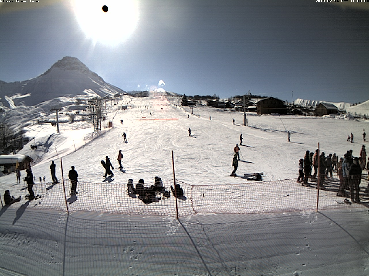 webcams de la station de ski Albiez-Montrond