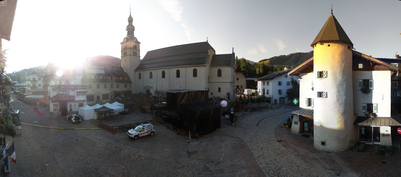 Megève, la place du village