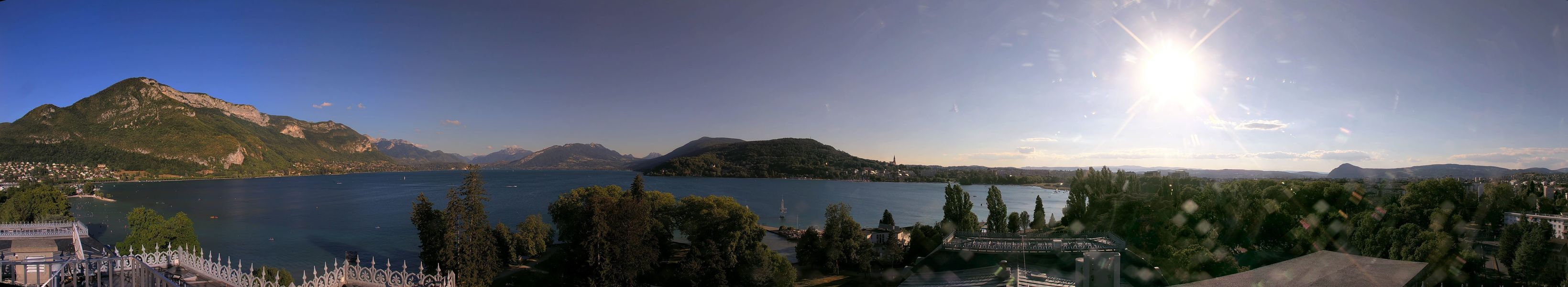 Webcam  panoramique lac annecy