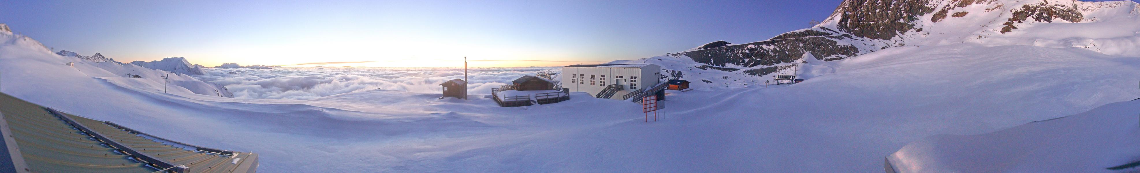 Panoramique Du Glacier en Direct