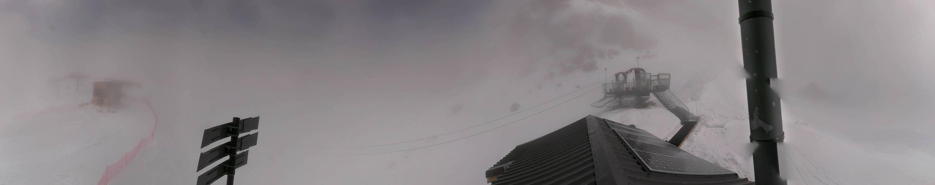 3 Valleys Orelle - Val Thorens webcam - Le Bouchet Tyrolienne 3.230 m