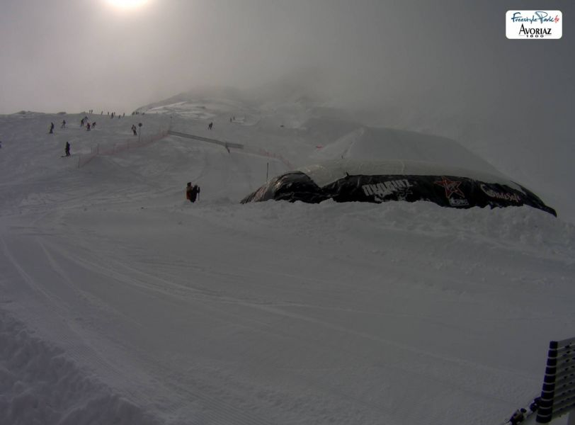 Avoriaz snowpark webcam, French Alps