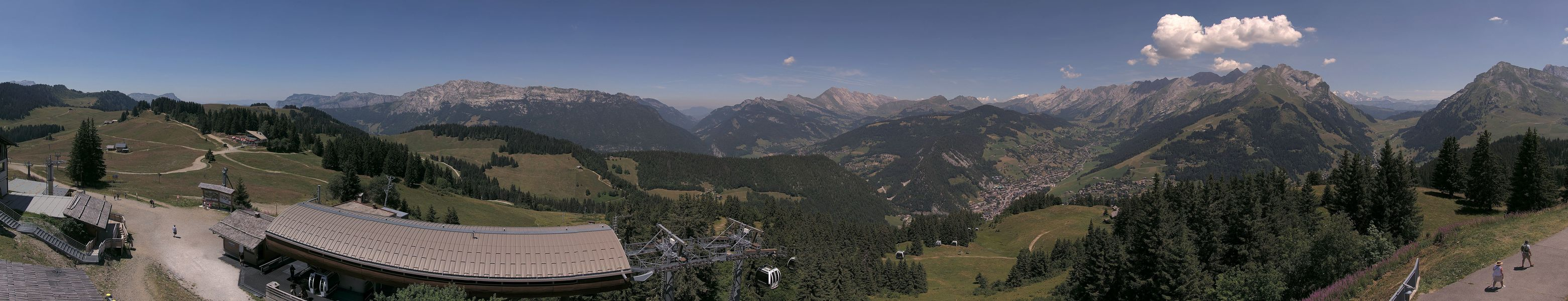 La Clusaz web camera - Massif de Beauregard ski station