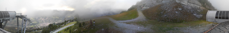 Les Arcs 1800 vus du TSG Mont-Blanc